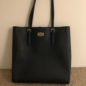 Genuine leather black Michael Kors tote